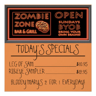 Zombie-Nahrungsmittelspecials-Bein Poster