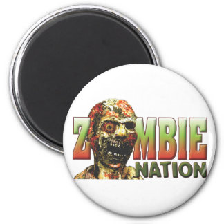 Zombie-Nation Runder Magnet 5,7 Cm