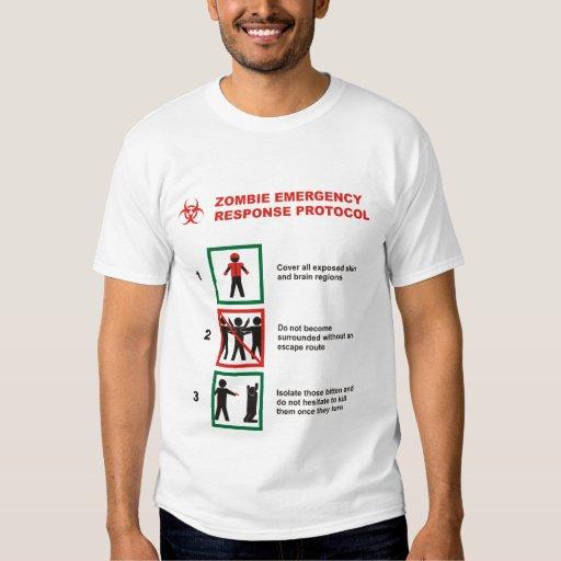 Zombie-Notfallschutz-Protokoll Hemden