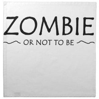 Zombie oder nicht sein stoffserviette