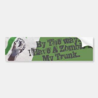Zombie passen auf autoaufkleber