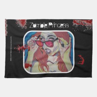 """Zombie-Prinzessin"" Amerikaner MoJo Geschirrtuch"