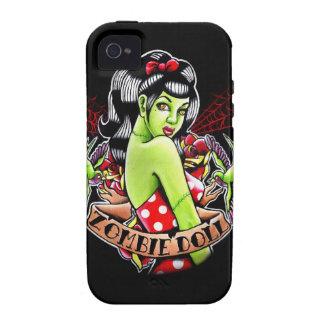 Zombie-Puppen-Button herauf Mädchen-Tätowierungs-B iPhone 4 Hülle