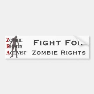Zombie-Recht-Aktivist Auto Sticker