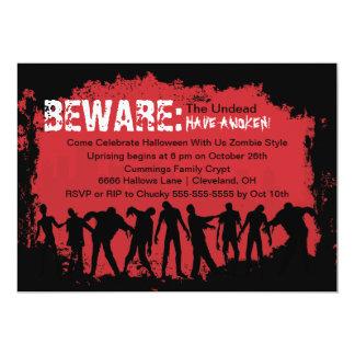Zombie-rote Halloween-Party-Einladung 12,7 X 17,8 Cm Einladungskarte