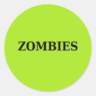 Zombie Runder Aufkleber