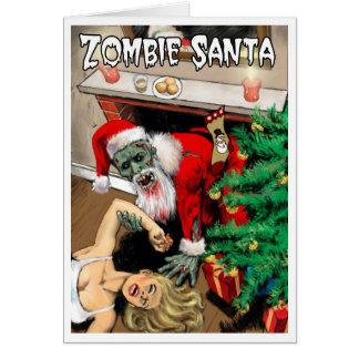 Zombie-Sankt-Weihnachtskarte Karte