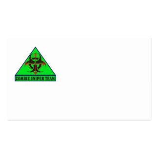 Zombie-Scharfschütze-Team-Visitenkarten Visitenkarten