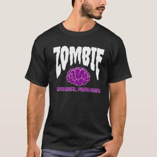 Zombie schaukelt | lila Gehirn T-Shirt