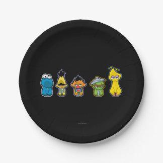 Zombie-Sesame Street-Charaktere Pappteller