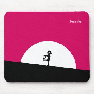 Zombie-Silhouette mit dem Vollmond personalisiert Mousepad