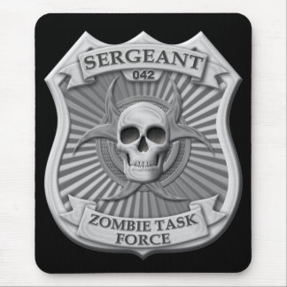Zombie-Task Force - Sergeant Badge Mousepads