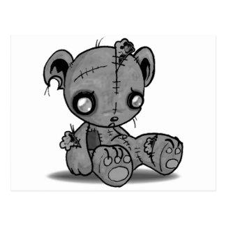 Zombie-Teddybär Postkarte