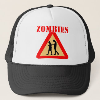 Zombie-Teenager mit Handys Truckerkappe