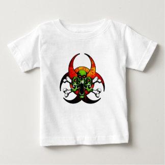 Zombie-Totenkopf mit gekreuzter Knochen Baby T-shirt