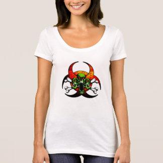 Zombie-Totenkopf mit gekreuzter Knochen T-Shirt