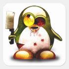 Zombie Tux (Linux Tux) Quadratischer Aufkleber