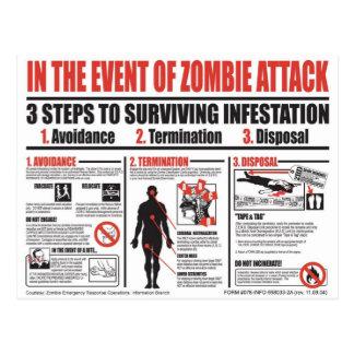 Zombie-Überlebens-Führer - über diesen Wänden Postkarte
