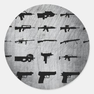 Zombie-Überlebensausrüstung Runde Aufkleber