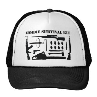 Zombie-Überlebensausrüstung Retrokultmützen