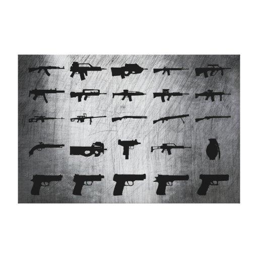 Zombie-Überlebensausrüstung Leinwand Druck