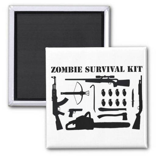 Zombie-Überlebensausrüstung Kühlschrankmagnete