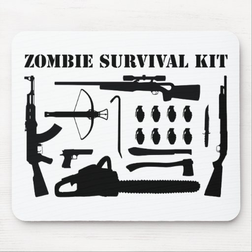 Zombie-Überlebensausrüstung Mousepad