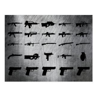 Zombie-Überlebensausrüstung Postkarte
