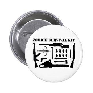 Zombie-Überlebensausrüstung Runder Button 5,7 Cm