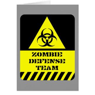 Zombie-Verteidigungsteam Grußkarten