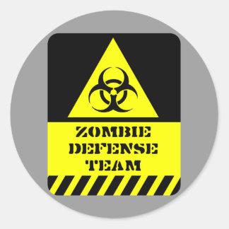 Zombie-Verteidigungsteam Runder Aufkleber