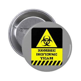 Zombie-Verteidigungsteam Runder Button 5,7 Cm