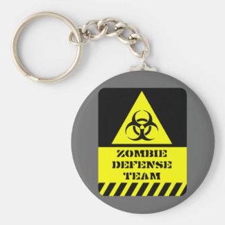 Zombie-Verteidigungsteam Standard Runder Schlüsselanhänger