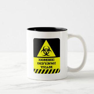 Zombie-Verteidigungsteam Zweifarbige Tasse