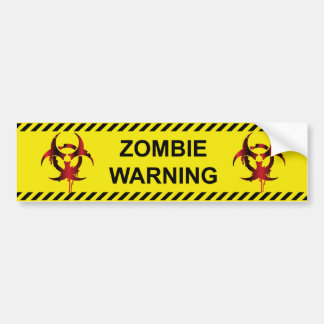Zombie-Warnung Autoaufkleber