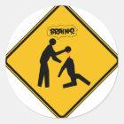 Zombie-Warnzeichen Runder Aufkleber