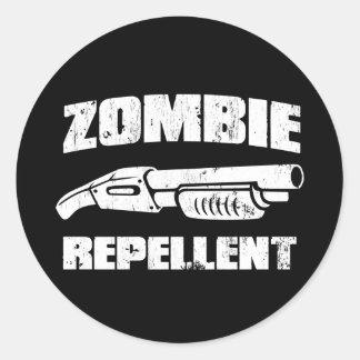 Zombieabwehrmittel - die Schrotflinte Runde Aufkleber