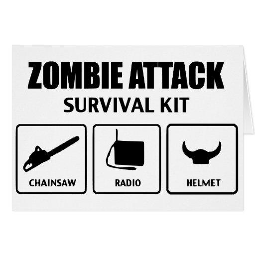 Zombieangriffs-Überlebensausrüstung Karte