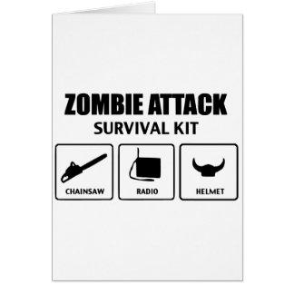 Zombieangriffs-Überlebensausrüstung Karten