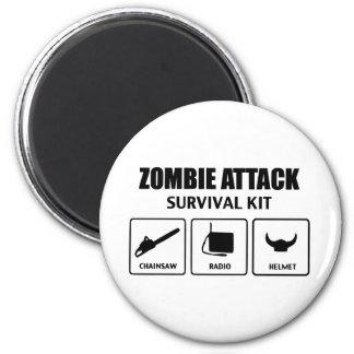 Zombieangriffs-Überlebensausrüstung Kühlschrankmagnet