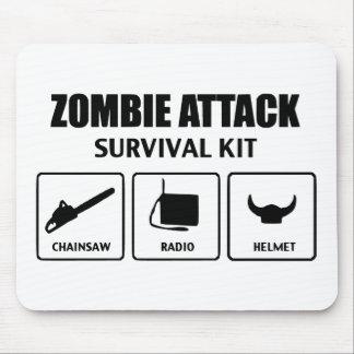 Zombieangriffs-Überlebensausrüstung Mousepads