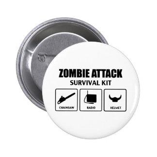 Zombieangriffs-Überlebensausrüstung Runder Button 5,7 Cm