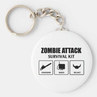 Zombieangriffs-Überlebensausrüstung Schlüsselanhänger