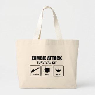 Zombieangriffs-Überlebensausrüstung Einkaufstasche