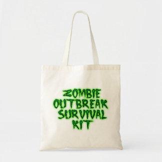 Zombieausbruch-Überlebensausrüstungs-Tasche Budget Stoffbeutel