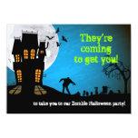 Zombiegraveyard-Halloween-Party 11,4 X 15,9 Cm Einladungskarte