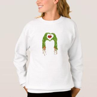 Zombiehand, die Herz macht Sweatshirt