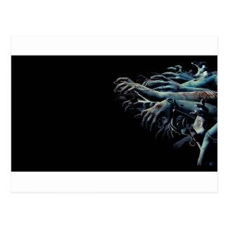 Zombiehände Postkarte