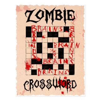 Zombiekreuzworträtselpostkarte Postkarte