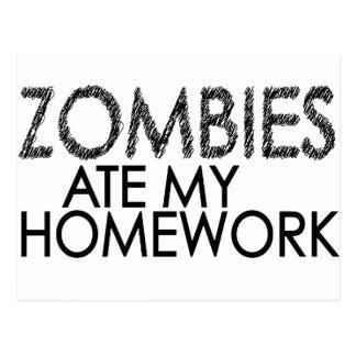 Zombies an meinen Hausaufgaben Postkarte